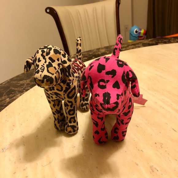 2 New Pink Victoria's Secret Puppies
